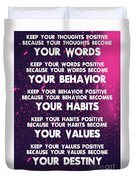 Motivational Quotes - Keep Your Words Positive - Ghandi Duvet Cover
