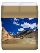 Mountains Of Ladakh Jammu And Kashmir India Duvet Cover