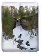Munising Falls Duvet Cover