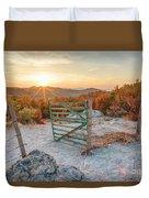 Mushroom Rock Phenomenon At Sunset Duvet Cover