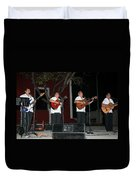 Musicians In The Park Candelaria In Valladolid Duvet Cover
