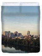 Nashville Tennessee Skyline Sunrise  Duvet Cover