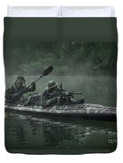 Navy Seals Navigate The Waters Duvet Cover