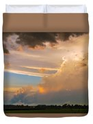 Nebraska Hp Supercell Sunset Duvet Cover