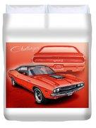 Dodge Challenger 1970 R/t Duvet Cover