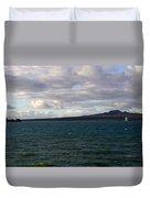 New Zealand - Vessel Departing Auckland Duvet Cover