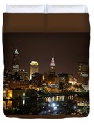 Nightlife In Cleveland Duvet Cover