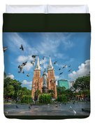 Notre-dame Cathedral Basilica Of Saigon, Officially Cathedral Basilica Of Our Lady Of The Immaculate Duvet Cover