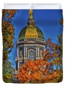 Notre Dame's Golden Dome Duvet Cover