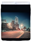 November, 2017, Charlotte, Nc, Usa - Early Morning In The City O Duvet Cover