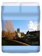 Nunney Church Duvet Cover