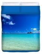 Oahu, Lanikai Beach Duvet Cover