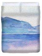 Ocean Watercolor Hand Painting Illustration. Duvet Cover