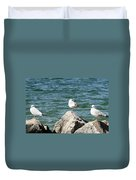 3 Of Them At Sea Duvet Cover