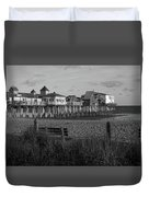 Old Orchard Beach Maine Duvet Cover