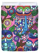 3 Owls Duvet Cover