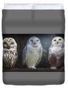 3 Owls On A Branch Duvet Cover