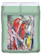 3 Parrots Duvet Cover