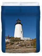 Pemaquid Point Light Duvet Cover