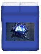Pixel Artificial Intelligence Duvet Cover