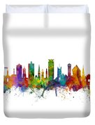 Plymouth England Skyline Duvet Cover