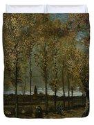 Poplars Near Nuenen Duvet Cover