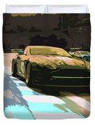 Power And Motors Duvet Cover
