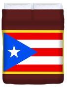 Puerto Rico Flag Duvet Cover
