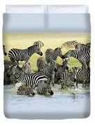 Quenching Their Thirst Duvet Cover