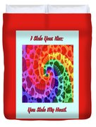 Rainbow Love Duvet Cover