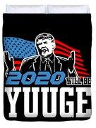 Reelect Trump For President Keep America Great Dark Duvet Cover