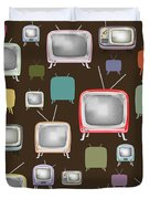 retro TV pattern  Duvet Cover