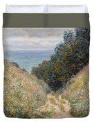 Road At La Cavee. Pourville Duvet Cover
