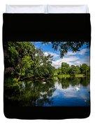 Roath Park Lake Duvet Cover