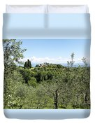 Rolling Green Hills With Trees Duvet Cover