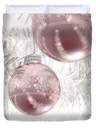 Rose Gold Christmas Baubels Duvet Cover