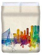 Rotterdam The Netherlands Skyline Duvet Cover