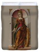 Saint Catherine Of Alexandria Duvet Cover