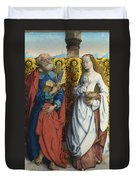 Saints Peter And Dorothy Duvet Cover