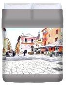 San Felice Circeo Square Duvet Cover