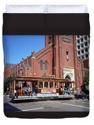 San Francisco Cable Car Duvet Cover
