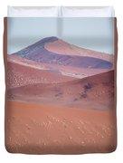 Sand Dune, Sossusvlei, Namib Desert Duvet Cover