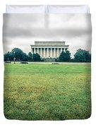 Scenes Around Lincoln Memorial Washington Dc Duvet Cover