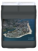 Seagate And Brighton Beach In Brooklyn Aerial Photo Duvet Cover