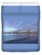Seattle Skyline Cityscape Duvet Cover