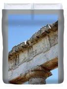 Segesta Greek Temple In Sicily, Italy Duvet Cover