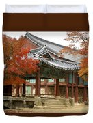Seonamsa In Autumn Duvet Cover