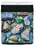 Small Rocks On The Beach Duvet Cover