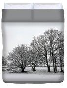 Snow On Epsom Downs Surrey Uk Duvet Cover