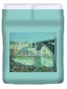 Spring Night Harlem River Duvet Cover